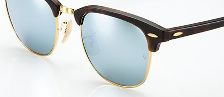 Custom Clubmaster with silver flash lenses