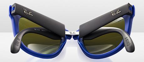 ray ban folding sunglasses case  temple engraving detail; custom ray ban folding wayfarer back