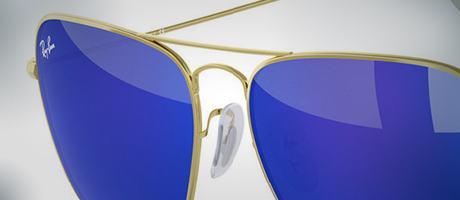 Custom Ray-Ban Aviator bridge and lens