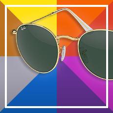 Ray-ban Round custom sunglasses