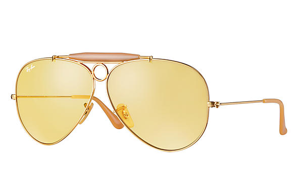 Ray-Ban 0RB3138 - SHOOTER Gold SUN