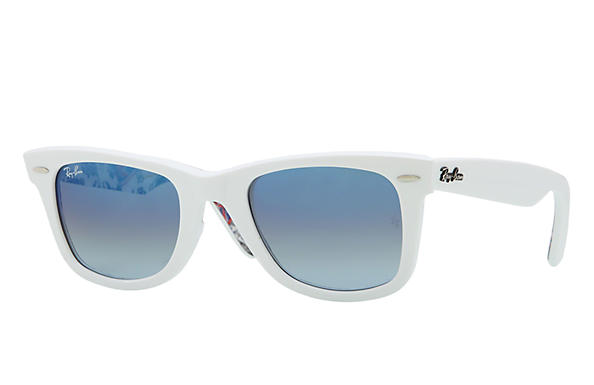 Ray-Ban 0RB2140 - ORIGINAL WAYFARER RARE PRINTS White SUN