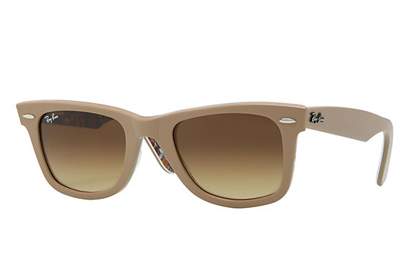 Ray-Ban 0RB2140 - ORIGINAL WAYFARER RARE PRINTS Light Brown SUN