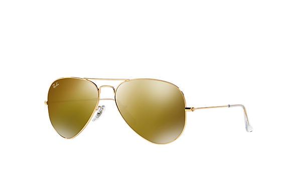 Ray-Ban 0RB3025 - AVIATOR MIRROR Gold SUN