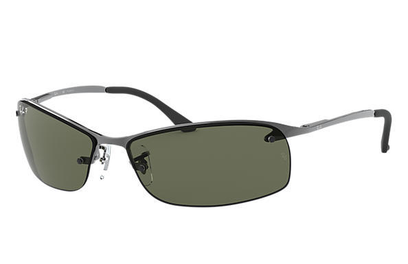 ray ban rb3183 gunmetal metal green polarized lenses. Black Bedroom Furniture Sets. Home Design Ideas