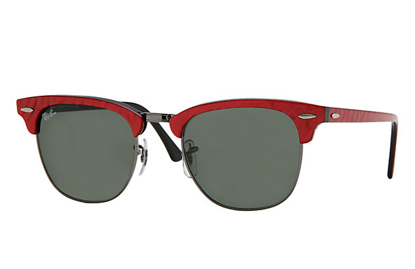 Ray-Ban 0RB3016 - CLUBMASTER COLOR MIX Red SUN
