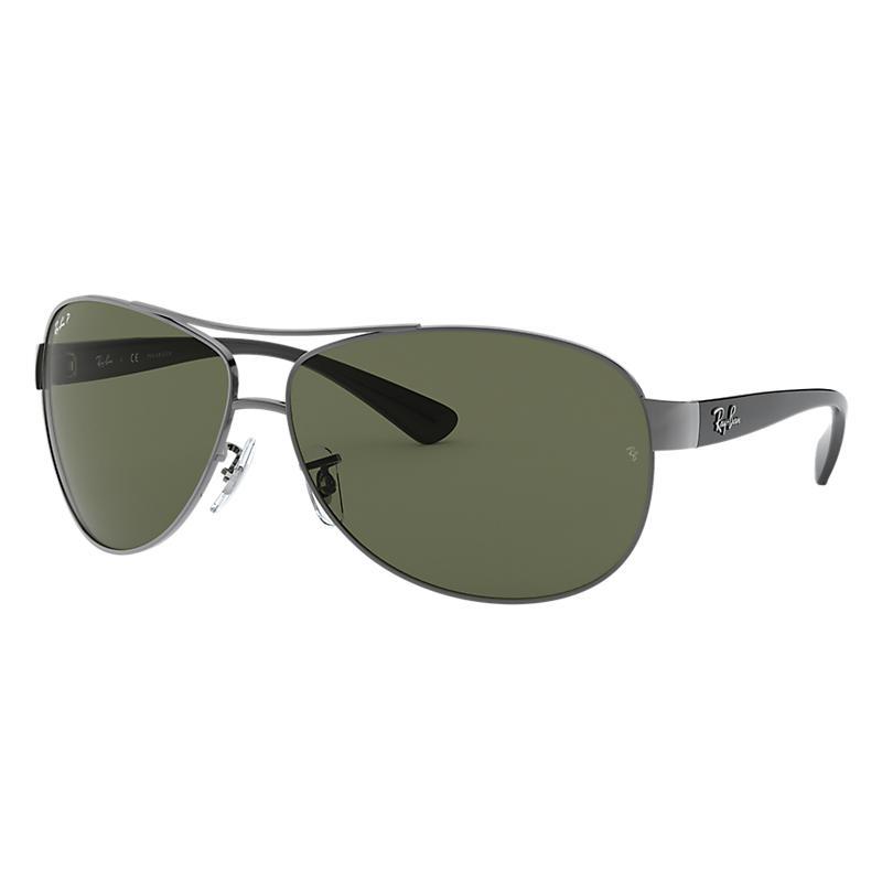 Ray Ban Rb3386 Homme Sunglasses Verres: Vert Polarisés, Monture: Noir - RB3386 004/9A 63-13