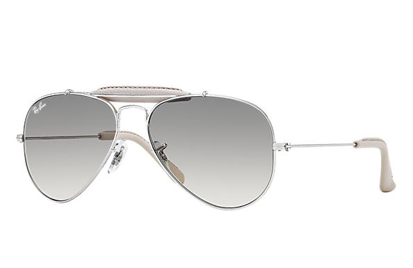 Ray-Ban 0RB3422Q - OUTDOORSMAN CRAFT Silver SUN