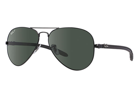 Ray-Ban 0RB8307 - AVIATOR CARBON FIBRE Black SUN