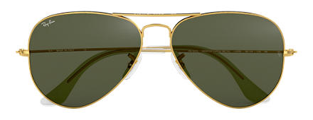 Ray-Ban RB3025 L0205  58-14 AVIATOR CLASSIC Gold Green Classic G-15 Aviator