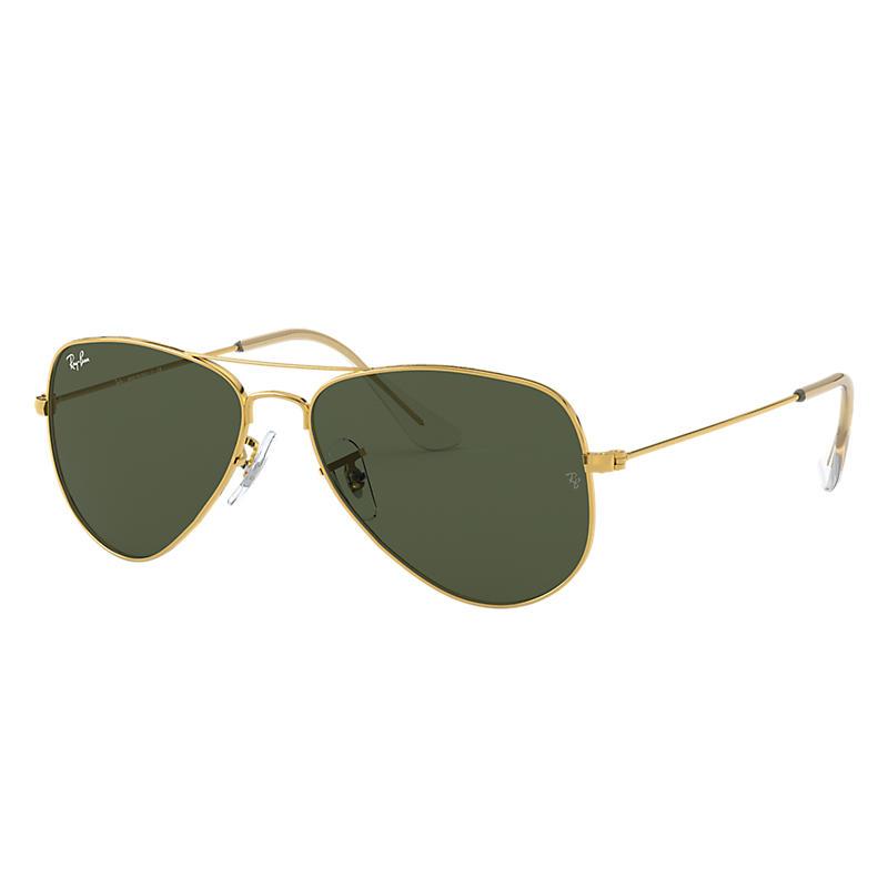 Ray Ban Aviator classic Unisex Sunglasses Verres: Vert, Monture: Or - RB3044 L0207 52-14