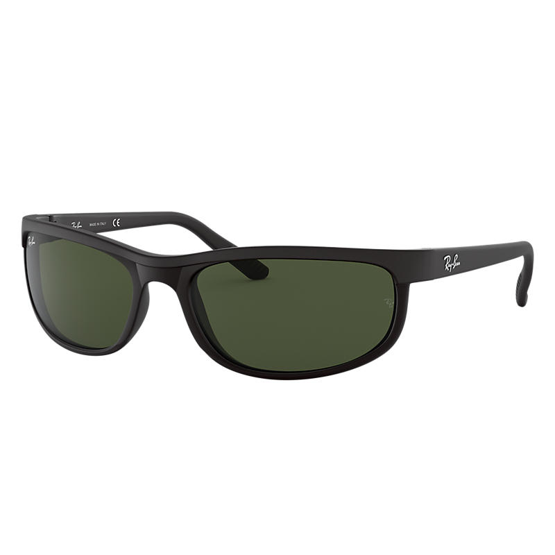 Ray Ban Predator 2 Homme Sunglasses Verres: Vert, Monture: Noir - RB2027 W1847 62-19