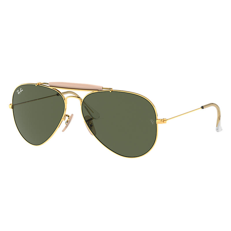 Ray Ban Outdoorsman ii Unisex Sunglasses Verres: Vert, Monture: Or - RB3029 L2112 62-14