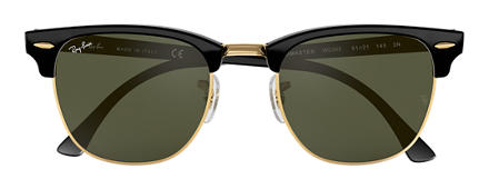 Ray-Ban RB3016 W0365  51-21 CLUBMASTER CLASSIC Green Classic G-15 Clubmaster