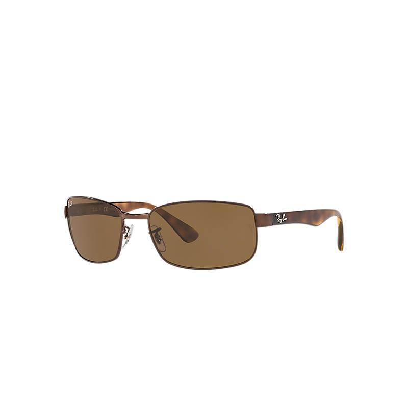 Ray Ban Rb3478 Homme Sunglasses Verres: Marron Polarisés, Monture: Havane - RB3478 014/57 60-17