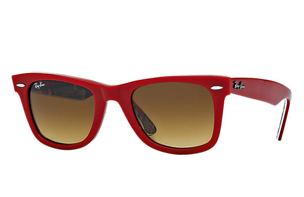 Ray-Ban 0RB2140 - ORIGINAL WAYFARER RARE PRINTS Red SUN