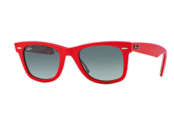 Ray-Ban 0RB2140 - ORIGINAL WAYFARER RARE PRINTS Rouge SUN
