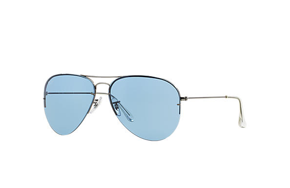 Ray-Ban 0RB3460 - AVIATOR FLIP OUT Gun SUN