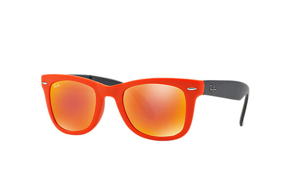 Ray-Ban 0RB4105 - WAYFARER FOLDING FLASH LENSES Orange SUN