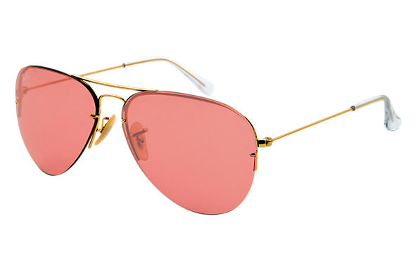 Ray-Ban 0RB3460 - AVIATOR FLIP OUT Gold SUN