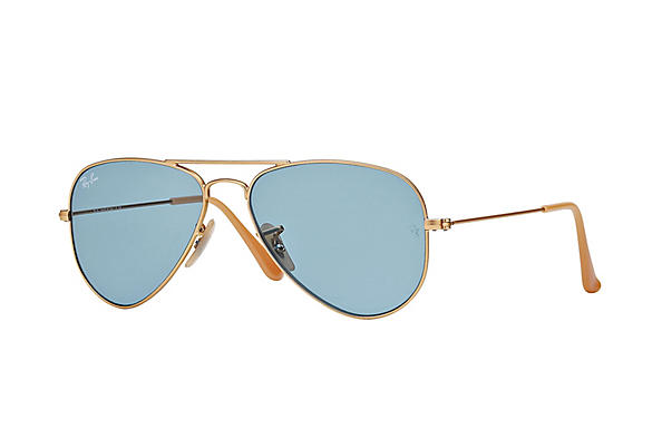 Ray-Ban 0RB3044 - AVIATOR SMALL Gold SUN