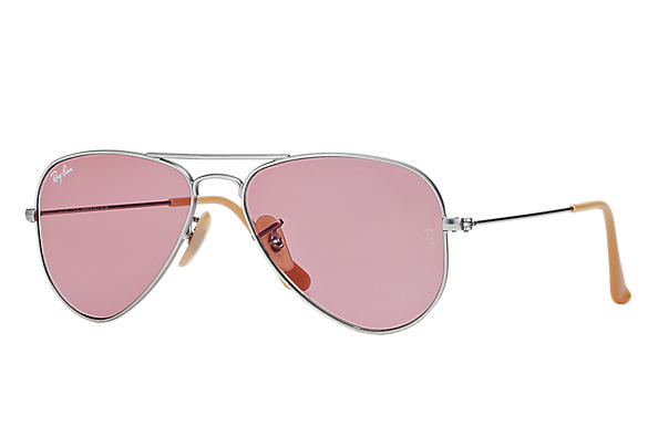 Ray-Ban 0RB3044 - AVIATOR SMALL Argento SUN