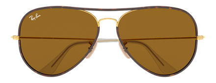 Ray-Ban RB3025JM 001 58-14 AVIATOR FULL COLOR Brown Classic B-15 Aviator