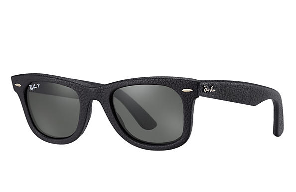 Ray-Ban 0RB2140QM - WAYFARER LEATHER Black SUN