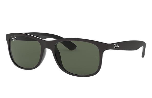 Ray Ban Andy Rb4202 Black Nylon Green Lenses