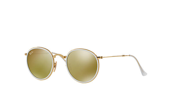 Ray-Ban 0RB3517 - ROUND FOLDING FLASH LENSES Gold SUN