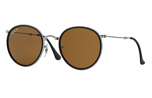 Ray-Ban 0RB3517 - ROUND FOLDING CLASSIC Silver SUN