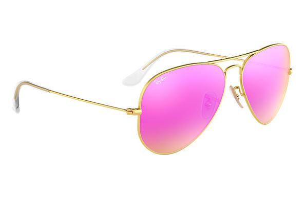 ray ban aviator miroir rose