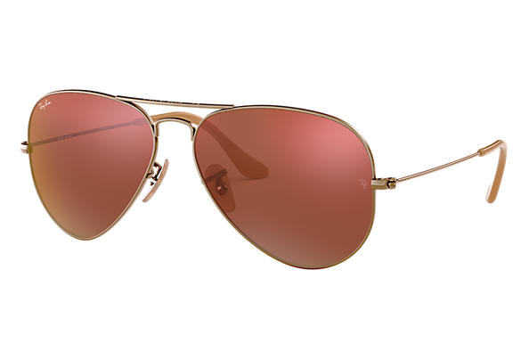 Ray-Ban 0RB3025 - AVIATOR FLASH LENSES 古铜色 SUN