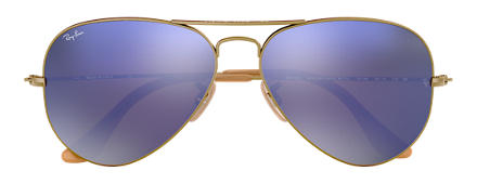 Ray-Ban RB3025 167/4K 58-14 AVIATOR MIRROR Lilac Mirror Aviator
