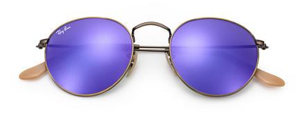 ray ban round sunglasses purple  quick view