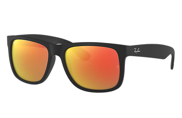Ray Ban Justin Color Mix Rb4165 Black Nylon Red Lenses