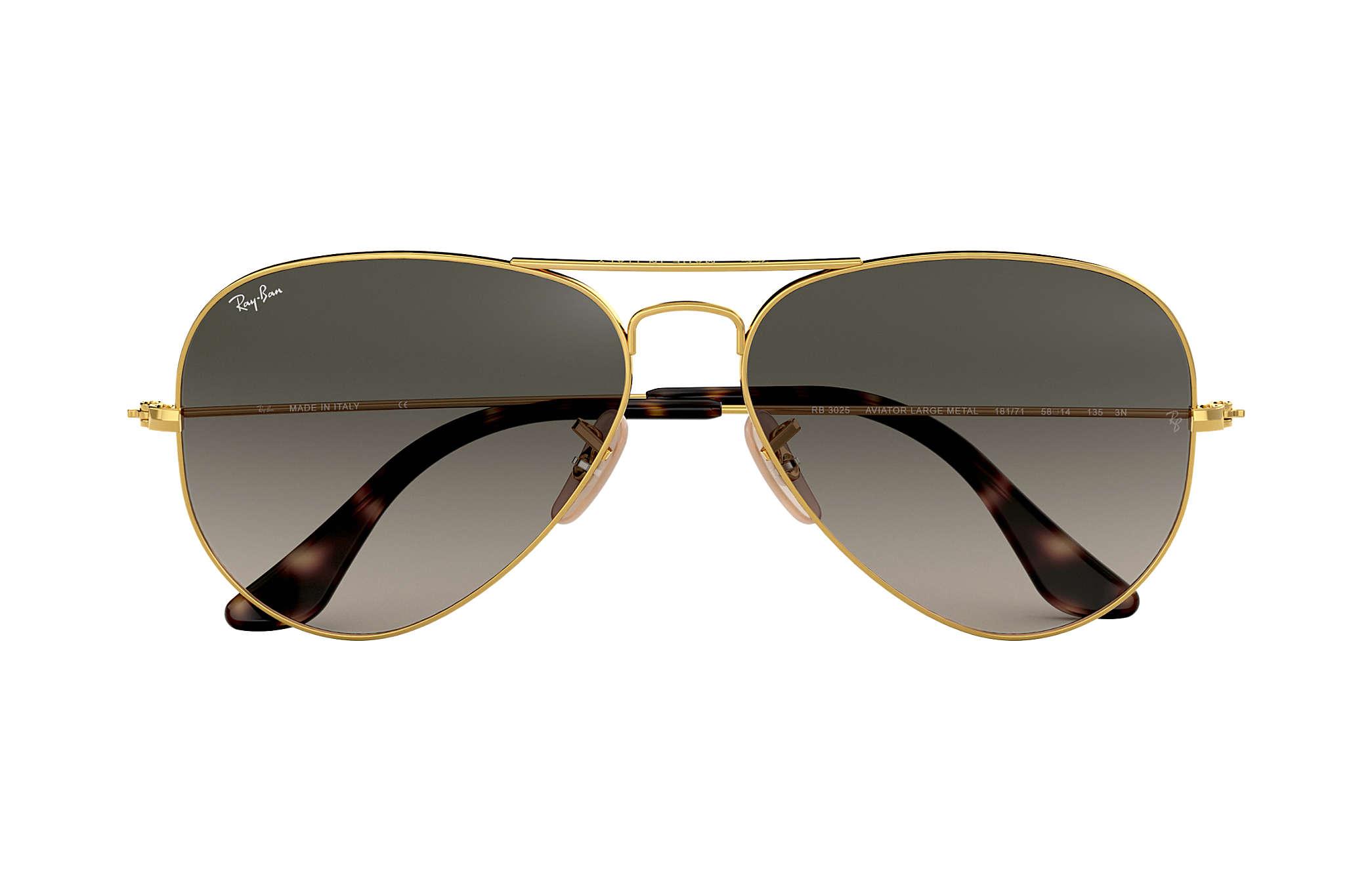 Очки солнечные в золотой оправе