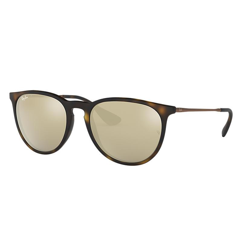 Ray Ban Erika @collection Unisex Sunglasses Verres: Jaune, Monture: Marron - RB4171 865/5A 54-18