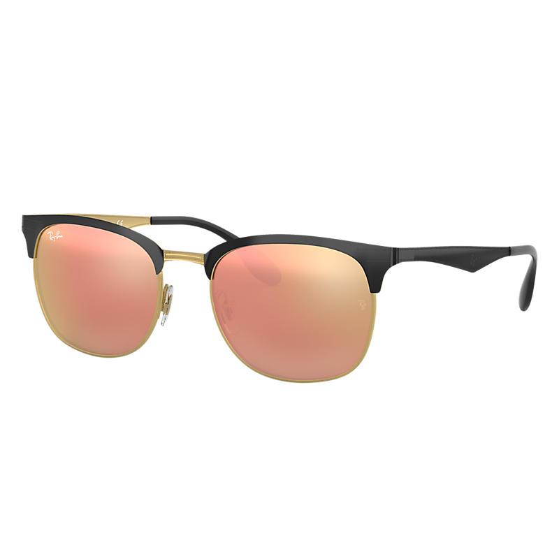 Ray Ban Rb3538 Unisex Sunglasses Verres: Rose, Monture: Noir - RB3538 187/2Y 53-19