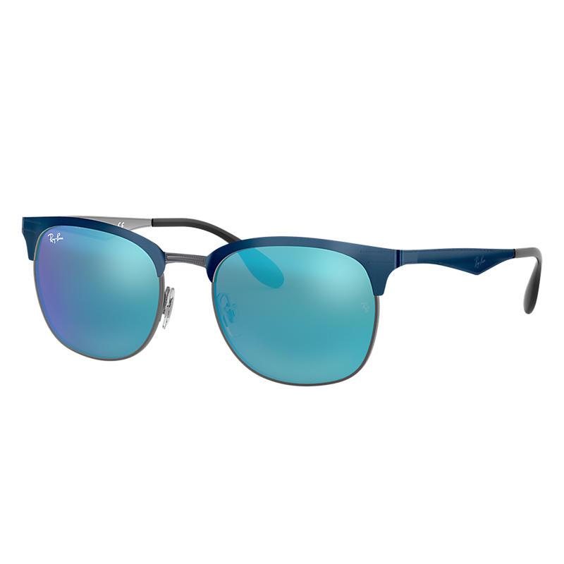 Ray Ban Rb3538 Unisex Sunglasses Verres: Bleu, Monture: Bleu - RB3538 189/55 53-19