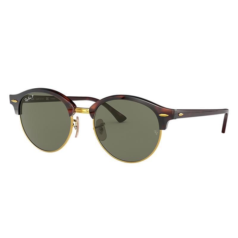 Ray Ban Clubround classic Unisex Sunglasses Verres: Vert Polarisés, Monture: Havane - RB4246 990/58
