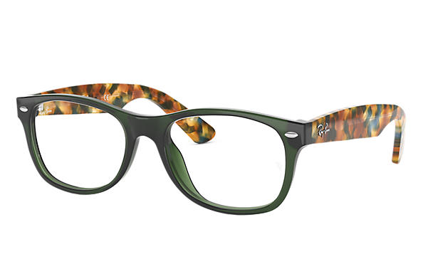 d4e547c3d52 New Wayfarer Optics prescription glasses Green Acetate - RB5184