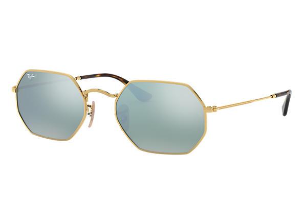 25e63c945a Vintage Octagon Ray-Ban Sunglasses eyewear eyeglasses gold. Ray-Ban  Octagonal Flat Lenses Gold