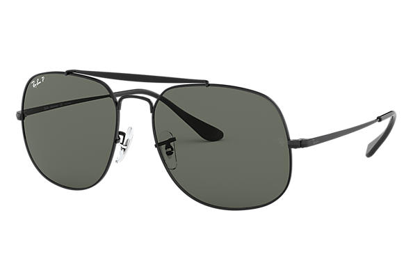 Ray Ban General Rb3561 Black Metal Green Polarized