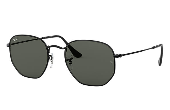 Ray Ban Hexagonal Flat Lenses Rb3548n Black Metal
