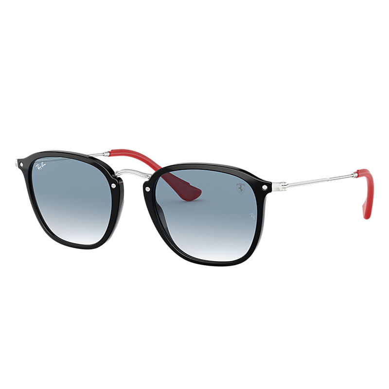 Ray-Ban Scuderia Ferrari Collection Silver Sunglasses, Blue Lenses - Rb2448nm 8053672819403