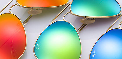 Ray-Ban AVIATOR FLASH LENSES サングラス