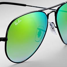 ray ban green aviators  Aviator Sunglasses - Free Shipping
