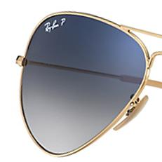 ray ban glass lenses polarized  aviator gradient: nicely shading toned lenses. customize. ray ban