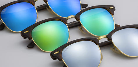ray-ban CLUBMASTER FLASH LENSES サングラス